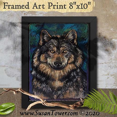 Framed Wolf Totem Art Print 8x10