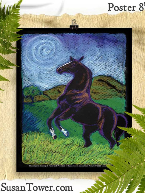 Horse Totem Art Print 8x10 by Susan Tower