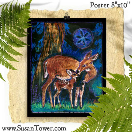 Deer Totem Art Print 8x10 by Susan Tower