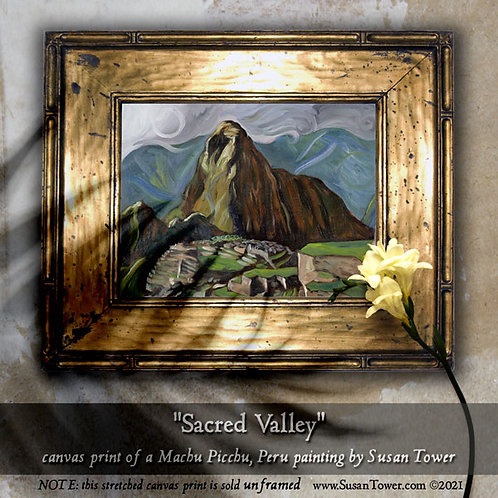 Sacred Valley, Machu Picchu painting canvas print 12x16