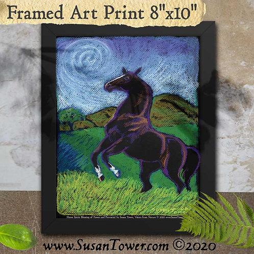 Framed Horse Art Print 8x10