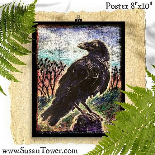 """Poster Crow Totem 8""""x10"""""""