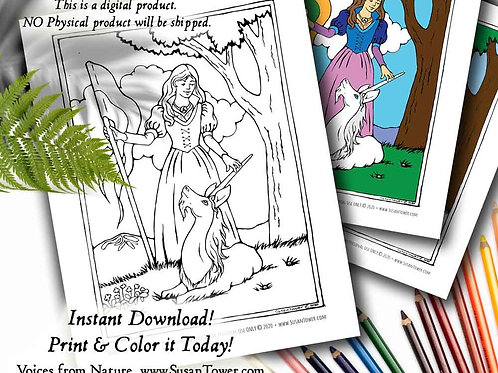 Printable Unicorn Touch Coloring Page - Download Now!