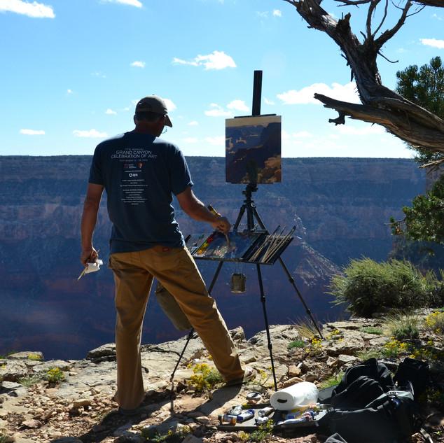 Bill Cramer painting, Grand Canyon Plein