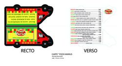 carte pizzeria à emporter