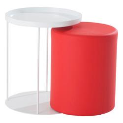 bout de canape + assise rouge ELEA