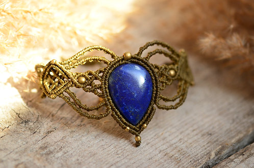 "Armband ""Raju Gala"" Lapislazuli -Earth Gold-"