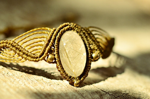 "Armband ""Zala"" Rutilquarz -Earth Gold-"