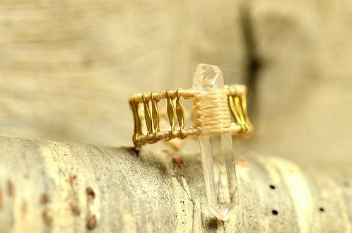 """Ring """"Za Ra"""" Bergkristall -Light Creme-"""