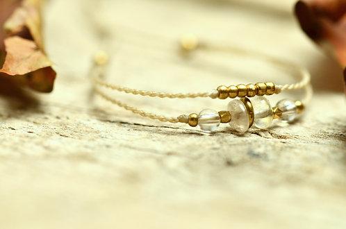 "Armband ""Rala Ra"" Rutilquarz und Bergkristall"