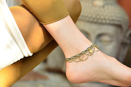 "Fußband ""Rajula"" Messingspirale"