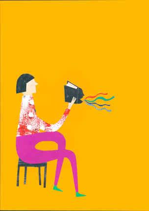 Ilustração para cartaz de evento promovido pela livraria Blooks (Botafogo, RJ): Era uma vez…para sempre: conversas sobre Leitura e Mediação