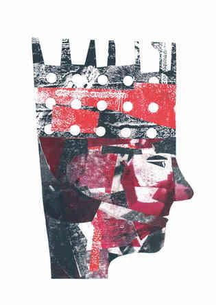 Colagem para a capa do livro Labirinto chamado eu, Evandro Muniz Barcelos, Selin Trovoar (SP)