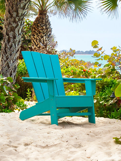 POLYWOOD® The Wave Adirondack Chair Left