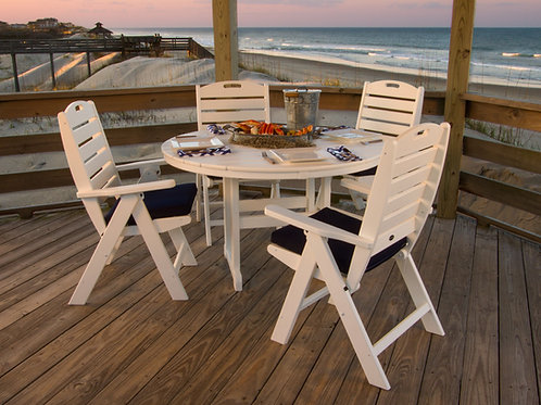 POLYWOOD® Nautical 5-Piece Dining Set