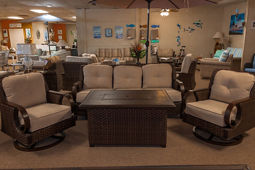 Patio Time Brooks 4-piece Fire Pit Sofa Set