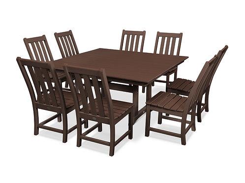 POLYWOOD® Vineyard 9-Piece Farmhouse Trestle Dining Set