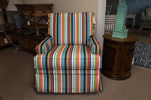 Capris Furniture Swivel Chair w/ Sunbrella Covering