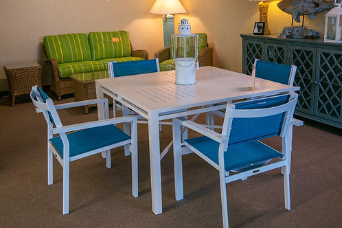 Boardwalk Outdoor Table and 4 Chairs by ALUMATECH
