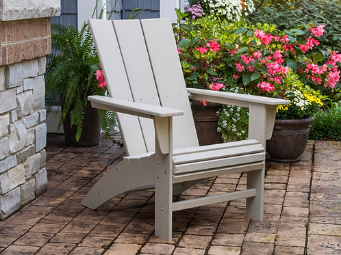 POLYWOOD® Modern Curveback Adirondack Chair