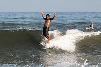 Longboard surfing in sayulita