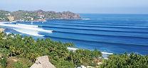Sayulita Beach surf line