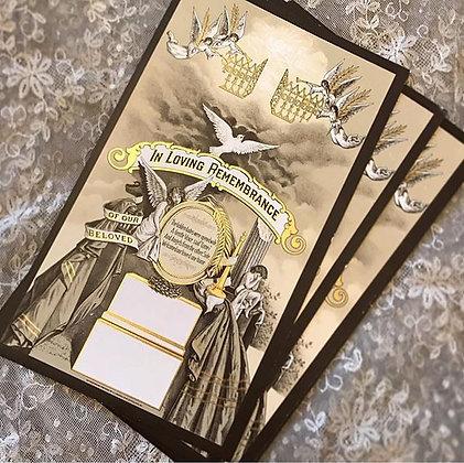 Deadstock Antique Lithograph Memorial Prints