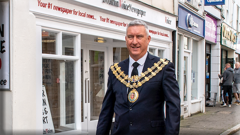 Jeremy Cooper will be the Mayor of Bodmin again after being selected in a town council meeting last week.