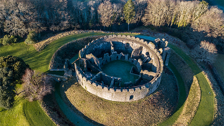 Filming has been taking place at Restormel Castle near Lostwithiel for a new film, with some residents being asked to get involved.