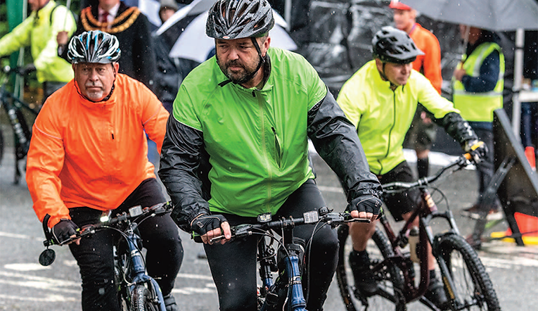 Cyclists up for Alpine Challenge