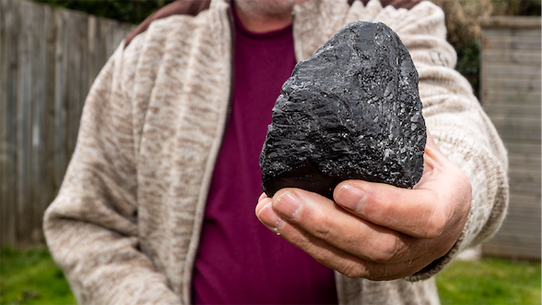 Bodmin's Roy Nottle says this object is a meteorite he found while walking on Bodmin Moor recently; he also says he has been in touch with NASA about it.