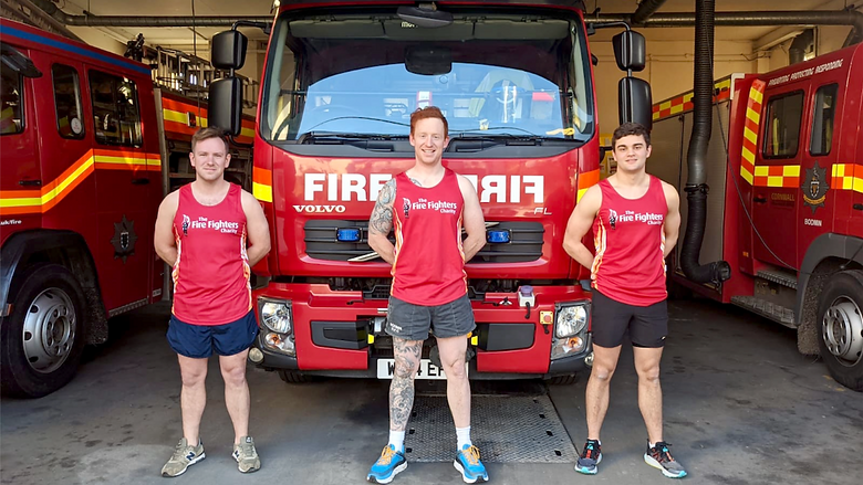 Bodmin firefighters Alex Cole, Matt Jones and James Brown.