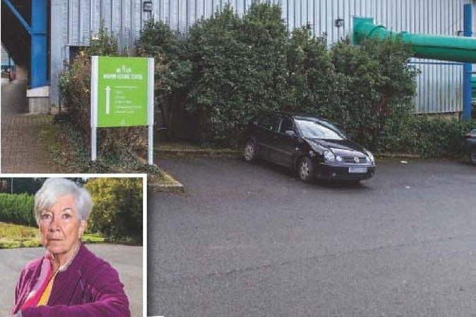 Bodmin resident Christine Howard, inset, is determined to save the town's leisure centre, which is facing a 'use it or lose it' scenario; Bodmin Town Council has called on potential investors to pitch in