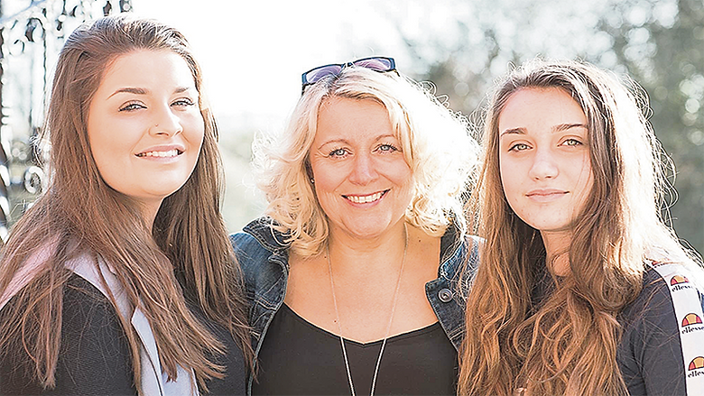 Spearheading St Luke's Make a Will Month campaign is the charity's head of fundraising, Penny Hannah, pictured with daughters Amber and Ruby.
