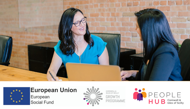 Part funded by the European Social Fund, the People Hub is one of the many projects being delivered as part of the Cornwall and Isles of Scilly Growth Programme.