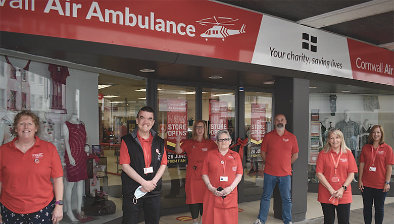 Pictured left to right, the team at Bodmin: Jackie Eastwood, Stuart Ralphson, Joanne Harriss, (retail manager) Debs Newcombe, Steve Murdoch (interim chief executive officer), Lynnette Hollett and Julia Jeffery. Photo Ollie Young