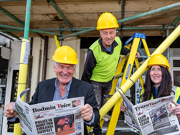 Meet your new newspaper! Reporter Suzanne Cleave, above right, will be covering all that's going on in the town; radio star Laurence Reed, above left, offers his thoughts in an exclusive column also.
