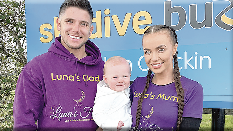 Charity founders Aimee and Ryan Conroy, pictured with baby Story, explained how their daughter Luna was born sleeping in November 2019.