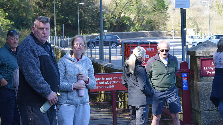 The new Bodmin Veterans Walking Group had its first meeting over the weekend and it proved to be a success, as many took the chance for some fresh air.