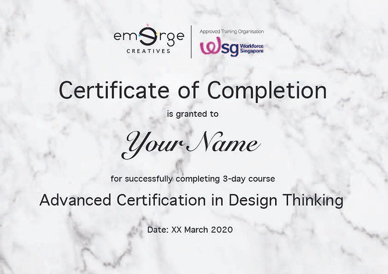 Certificate Example- 3-day Advanced DT C