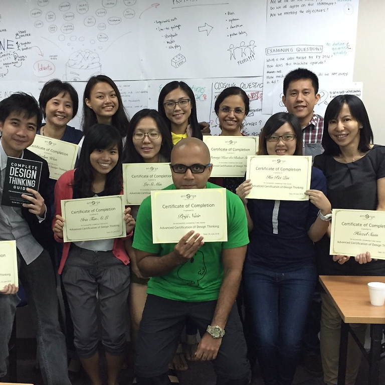 31 May - 2 June 2021 Advanced Design Thinking Certification Masterclass