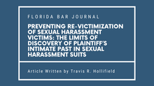 Travis R. Hollifield in the Florida Bar Journal - July/August 2021