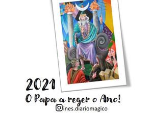 """O ano de 2021 será regido pela carta de Tarot """"O PAPA""""."""