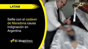 Selfie con el cadáver de Maradona causa indignación en Argentina