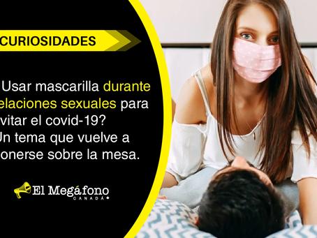 ¿Usar mascarilla durante relaciones sexuales para evitar el covid-19?