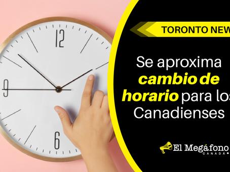 Se aproxima cambio de horario para los Canadienses
