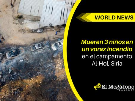 Mueren 3 niños en voraz incendio en el campamento AL-HOL, SIRIA