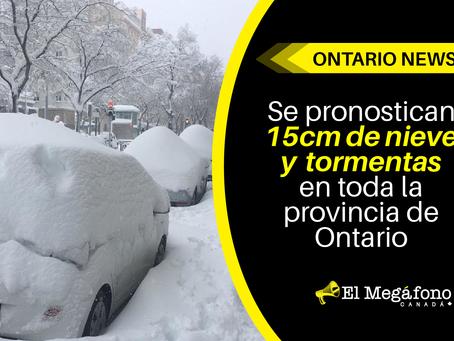 Se pronostican 15cm de nieve y tormentas en toda la provincia de Ontario