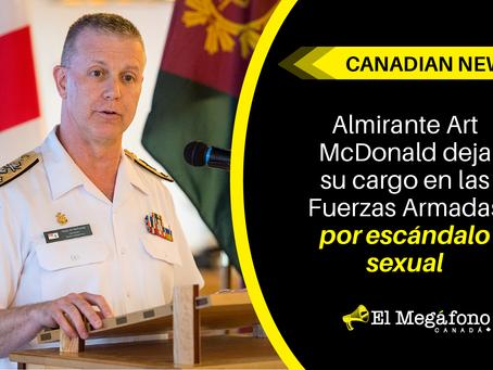 Almirante Art McDonald deja su cargo en las Fuerzas Armadas por escándalo sexual