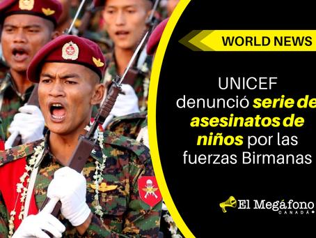 UNICEF denunció serie de asesinatos en niños por las fuerzas Birmanas